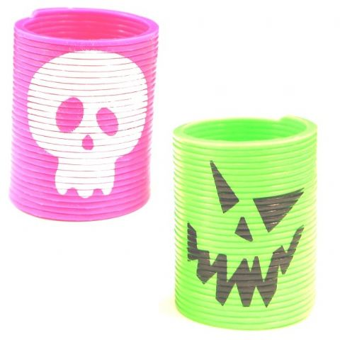 60 x Springs Slinky Coils HALLOWEEN (Black Green Orange or Purple) Wholesale Party Bag Toys
